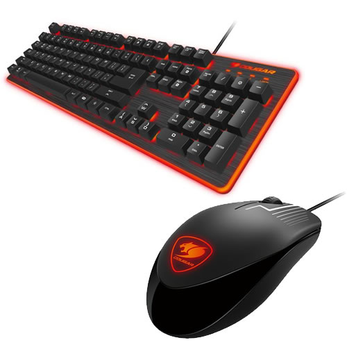 Tast+MOUSE DEATHFIRE GAMING GEAR COMBO 7-LED-COLOR